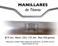 MANILLARES MOTO Titanio