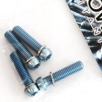 Cabeza pequeña torx M6 de titanio gr. 5 Azul claro