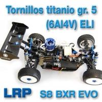 "KITS tornillos titanio ""LPR S8 BRX EVO"""