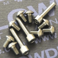 Tornillo rosca UNC 4-40 x L de titanio gr. 5 (6Al4V)