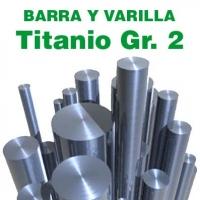 Varillas y barras TITANIO GR. 2 en diámetros de 1 a 16 mm.