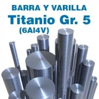 Varillas y barras TITANIO GR. 5 (6Al4V) de 1 a 15 mm. de diámetro