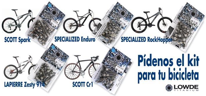 Tornillos titanio bicicleta