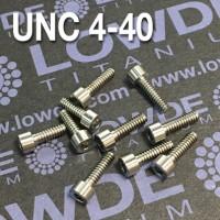 DIN 912 UNC 4-40 Titanio gr. 5 (6Al-4V)