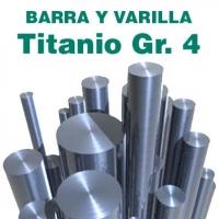 Varillas y barras TITANIO GR. 4