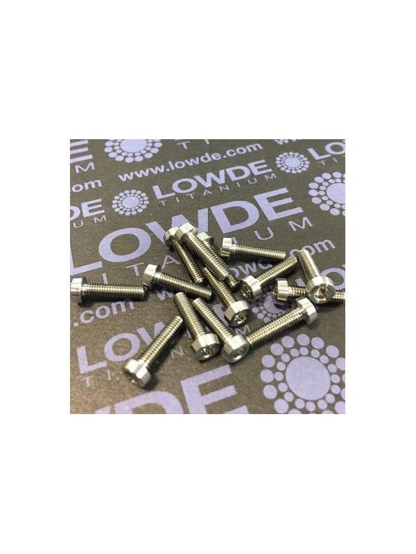 150 Items LN 29950 Mj3x12 titanio gr. 5 (6Al4V) - 150 Items LN 29950 Mj3x12 mm. Titanio gr. 5 (6Al4V) AMS 4928. Fabricado bajo normativa aeroespacial. Certificados de calidad incluidos.