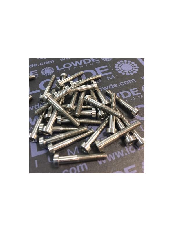 30 Items LN 29950 Mj3x20 titanio gr. 5 (6Al4V) - 30 Items LN 29950 Mj3x20 mm. Titanio gr. 5 (6Al4V) AMS 4928. Fabricado bajo normativa aeroespacial. Certificados de calidad incluidos.