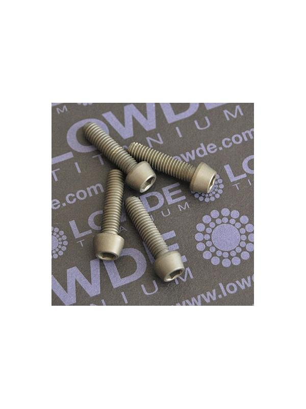 Kit 4 tornillos CÓNICOS M5x20 titanio gr. 5 Anodizados