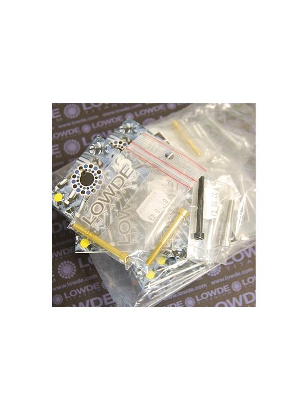 55 Tornillos DIN 912 M5 longitudes 35 a 45 mm. Aluminio 7075 - 55 Tornillos DIN 912 M5 en longitudes de 35 a 45 mm. Aluminio 7075. Color aluminio, oro y negro