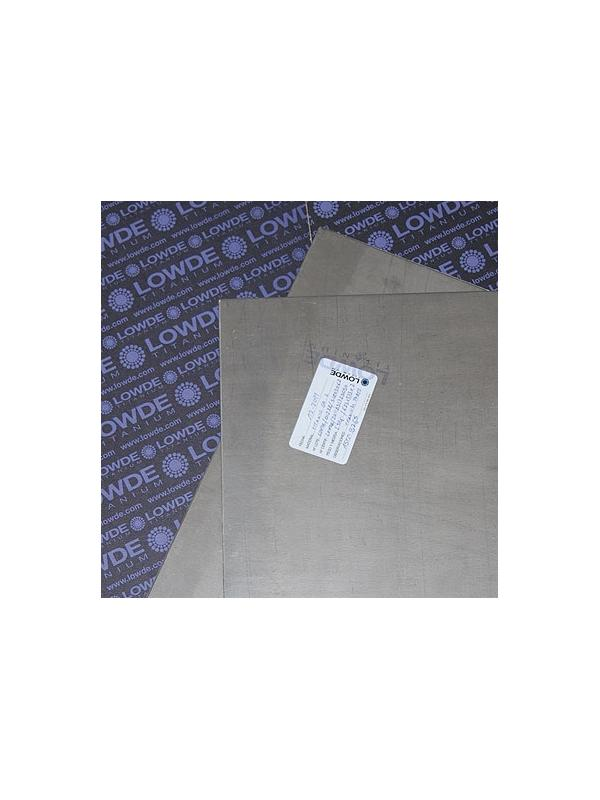 Plancha de TITANIO gr. 2 ASTM B265. Tamaño: 625x375 mm. Grosor: 2 mm. - Plancha de TITANIO gr. 2 ASTM B265. Tamaño: 625x375 mm. Grosor: 2 mm. Peso: 2,3 kgr.