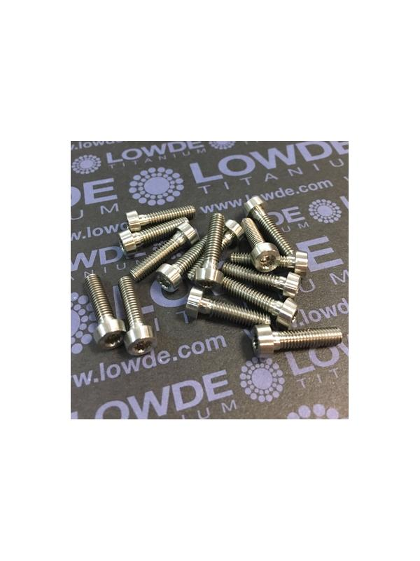 74 Screws LN 29950 M4x16 titanio gr. 5 (6Al4V) - 74 Items LN 29950MJ0416B Mj4x16 mm. titanio gr. 5 (6Al4V) AMS 4928. Fabricado bajo normativa aeroespacial. Certificados de calidad incluidos.