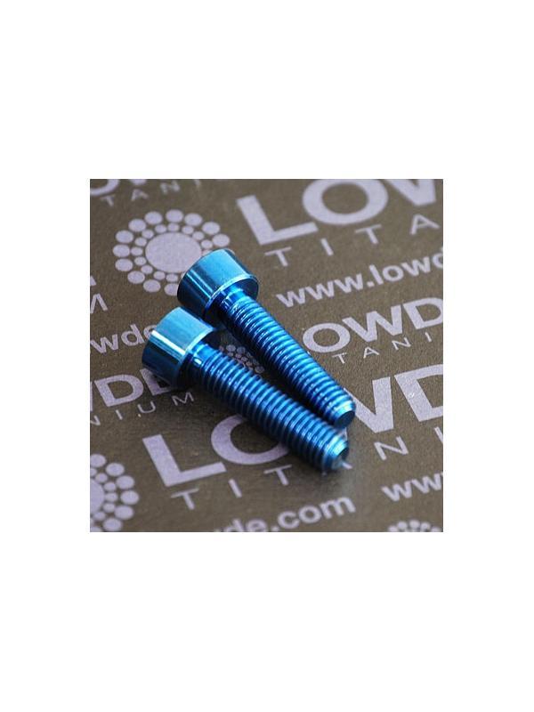 Tornillo DIN 912 M6x25 de Titanio gr. 5 (6Al4V). Anodizado azul intenso - 1 Tornillo DIN 912 M6x25 de Titanio gr. 5 (6Al4V). Anodizado azul intenso