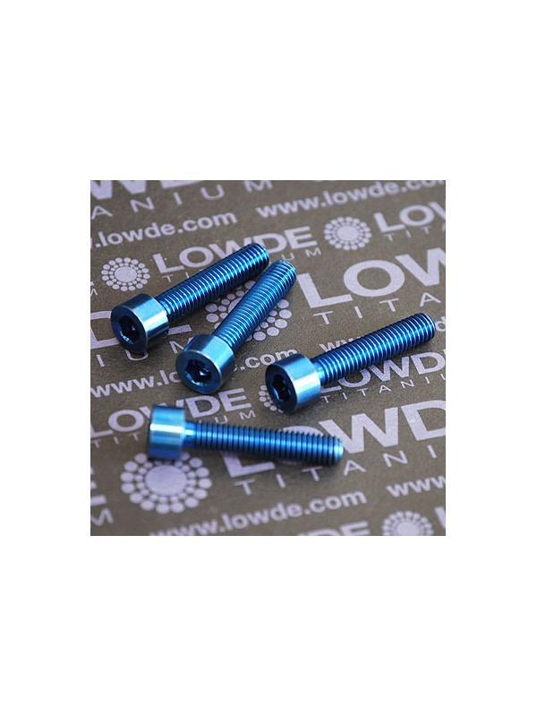 Tornillo DIN 912 M6x30 de Titanio gr. 5 (6Al4V). Anodizado azul intenso - 1 Tornillo DIN 912 M6x30 de Titanio gr. 5 (6Al4V). Anodizado azul intenso