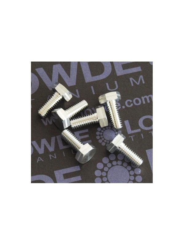 DIN 933 M4x10 de Aluminio 7075 T6 - DIN 933 M4x10 de Aluminio 7075 T6
