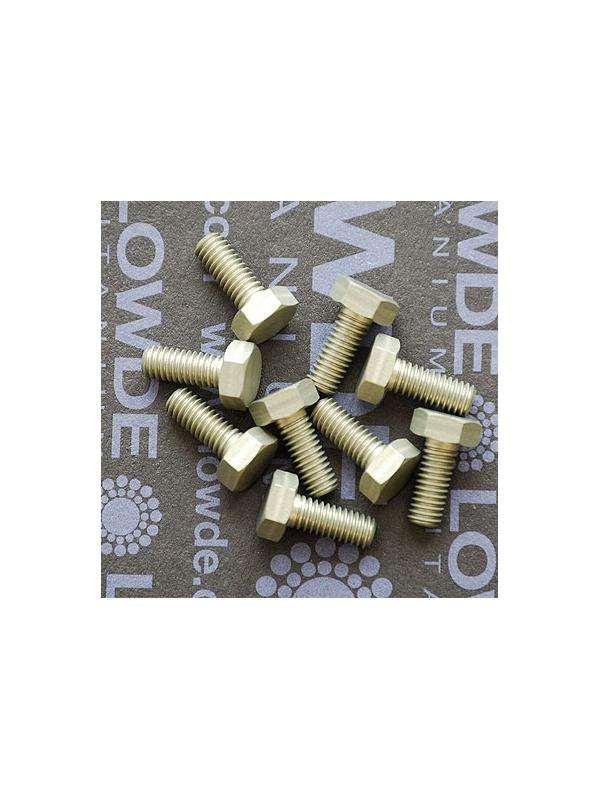 DIN 933 M4x10 de Aluminio 7075 T6 anodizado duro - DIN 933 M4x10 de Aluminio 7075 T6. Anodizado duro.