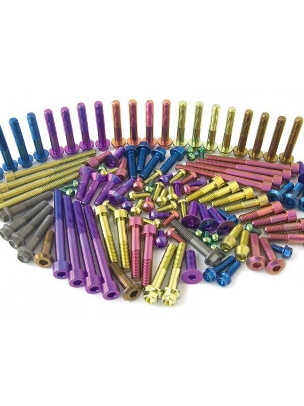 TRATAMIENTOS SUPERFICIALES - TRATAMIENTOS SUPERFICIALES DEL TITANIO. LOWDE anodiza en una gama 10 colores tus piezas de titanio. También ofrecemos otros tipos de recubrimientos como PVD y MoS2.