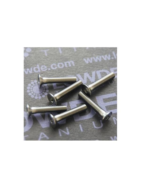 Tornillo DIN 7991 M3x16 mm. de titanio gr. 5 (6Al4V) ELI - Tornillo DIN 7991 M3x16 mm. de titanio gr. 5 (6Al4V) ELI