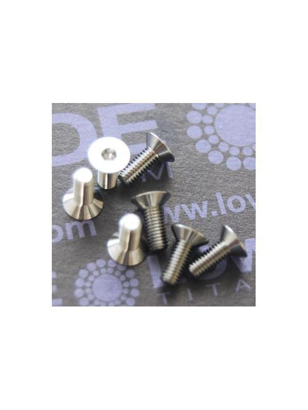 Tornillo DIN 7991 M3x8 mm. de titanio gr. 5 (6Al4V) ELI - Tornillo DIN 7991 M3x8 mm. de titanio gr. 5 (6Al4V) ELI