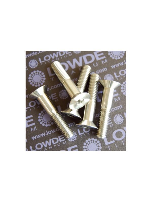 Avellanado DIN 7991 M10x50 mm. de titanio gr. 5 (6Al4V) - Avellanado DIN 7991 M10x50 mm. de titanio gr. 5 (6Al4V)