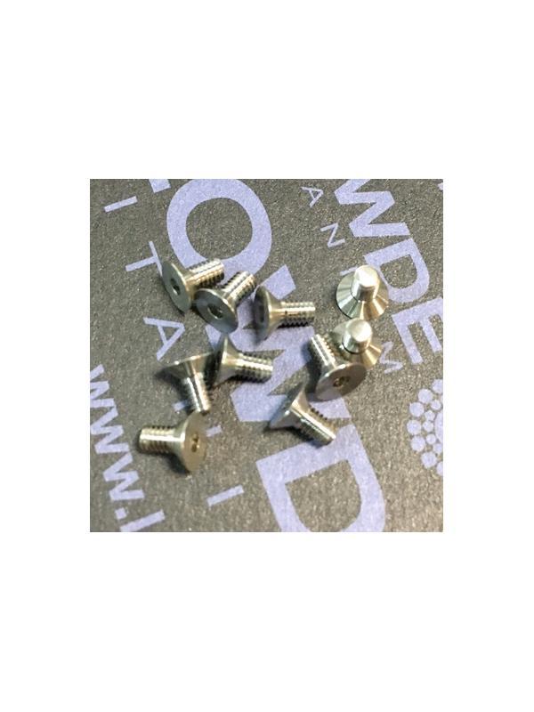 Avellanado DIN 7991 M2,5x5 mm. de titanio gr. 5 (6Al4V) - Avellanado DIN 7991 M2,5x0,45x5 mm. de titanio gr. 5 (6Al4V)