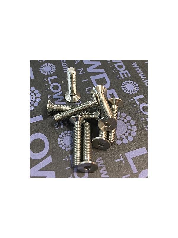 Avellanado DIN 7991 M4x20 mm. de titanio gr. 5 (6Al4V) - Avellanado DIN 7991 M4x20 mm. de titanio gr. 5 (6Al4V).