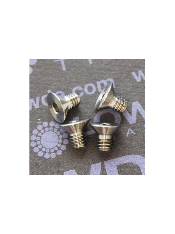 Avellanado DIN 7991 M4x6 mm. de titanio gr. 5 (6Al4V) - Avellanado DIN 7991 M4x6 mm. de titanio gr. 5 (6Al4V).