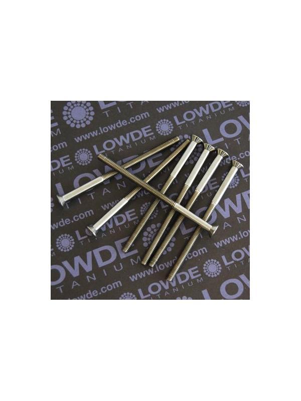 Avellanado DIN 7991 M4x70 mm. de titanio gr. 5 (6Al4V) - Avellanado DIN 7991 M4x70 mm. de titanio gr. 5 (6Al4V). Rosca de 45 mm.