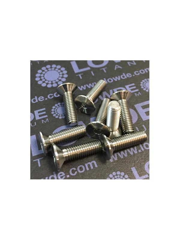Avellanado DIN 7991 M5x18 mm. de titanio gr. 5 (6Al4V) - Avellanado DIN 7991 M5x18 mm. de titanio gr. 5 (6Al4V)