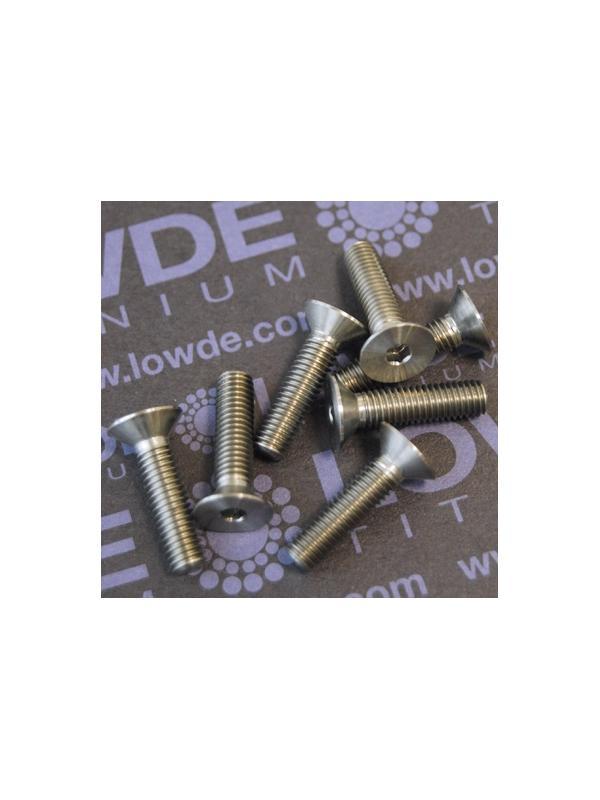 Avellanado DIN 7991 M5x20 mm. de titanio gr. 5 (6Al4V) - Avellanado DIN 7991 M5x20 mm. de titanio gr. 5 (6Al4V)