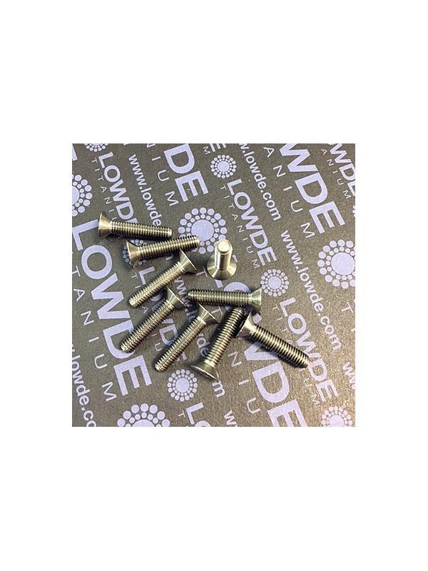 Avellanado DIN 7991 M5x23 mm. de titanio gr. 5 (6Al4V) - Avellanado DIN 7991 M5x23 mm. de titanio gr. 5 (6Al4V)