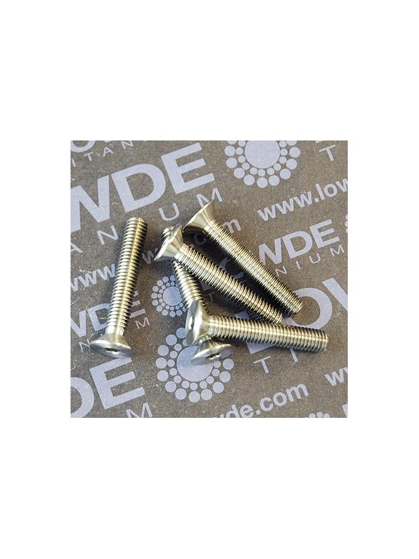Avellanado DIN 7991 M5x30 mm. de titanio gr. 5 (6Al4V) - Avellanado DIN 7991 M5x30 mm. de titanio gr. 5 (6Al4V)