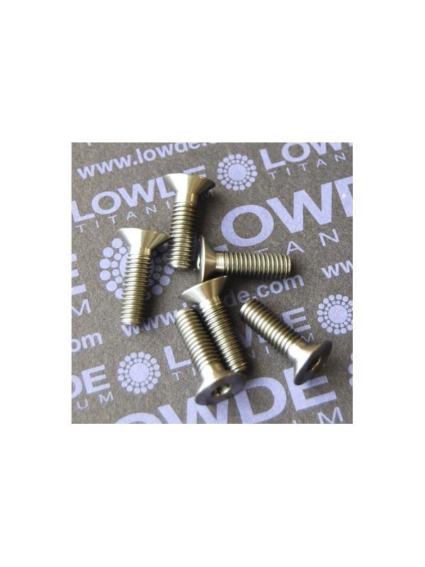 Avellanado DIN 7991 M6x20 mm. de titanio gr. 2 - Avellanado DIN 7991 M6x20 mm. de titanio gr. 2