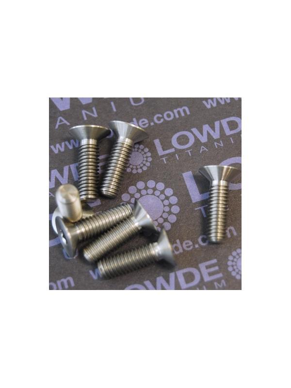 1 Tornillo avellanado DIN 7991 M6x20 mm. de titanio gr. 5 (6Al4V) - Avellanado DIN 7991 M6x20 mm. de titanio gr. 5 (6Al4V)