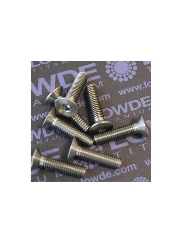 Avellanado DIN 7991 M6x25 mm. de titanio gr. 5 (6Al4V) - Avellanado DIN 7991 M6x25 mm. de titanio gr. 5 (6Al4V)