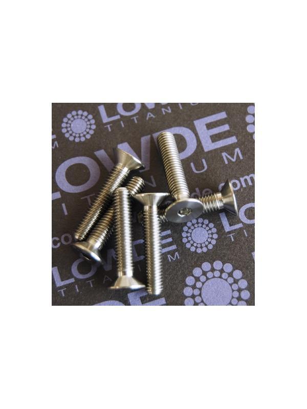 Avellanado DIN 7991 M5x25 mm. de titanio gr. 5 (6Al4V) - Avellanado DIN 7991 M5x25 mm. de titanio gr. 5 (6Al4V)