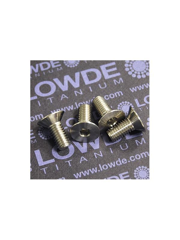 Avellanado DIN 7991 M8x18 mm. de titanio gr. 5 (6Al4V) - Avellanado DIN 7991 M8x18 mm. de titanio gr. 5 (6Al4V)