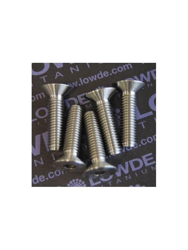 Avellanado DIN 7991 M8x30 mm. de titanio gr. 5 (6Al4V) - Avellanado DIN 7991 M8x30 mm. de titanio gr. 5 (6Al4V)