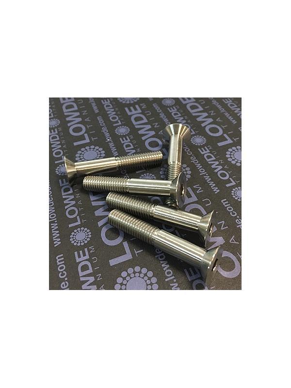 Avellanado DIN 7991 M8x50 mm. de titanio gr. 5 (6Al4V) Rosca 25 mm. - Avellanado DIN 7991 M8x50 mm. de titanio gr. 5 (6Al4V) Rosca 25 mm.