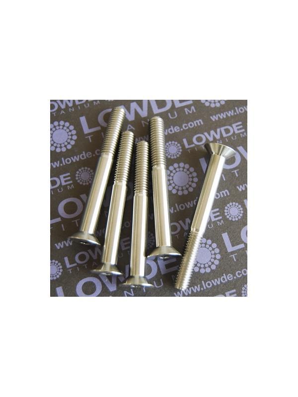 Avellanado DIN 7991 M8x70 mm. de titanio gr. 5 (6Al4V) - Avellanado DIN 7991 M8x70 mm. de titanio gr. 5 (6Al4V)