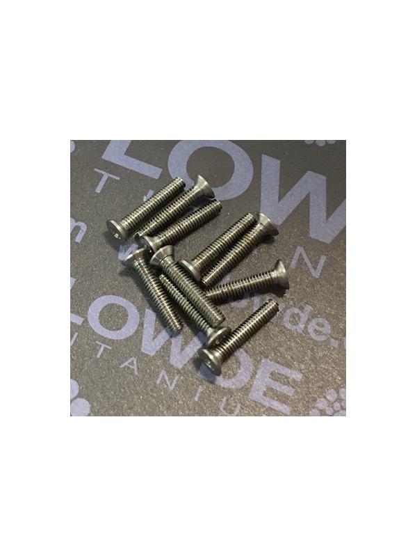 Avellanado DIN 965 M2x12 mm. de titanio gr. 5 (6Al4V) - Avellanado DIN 965 M2x12 mm. de titanio gr. 5 (6Al4V)