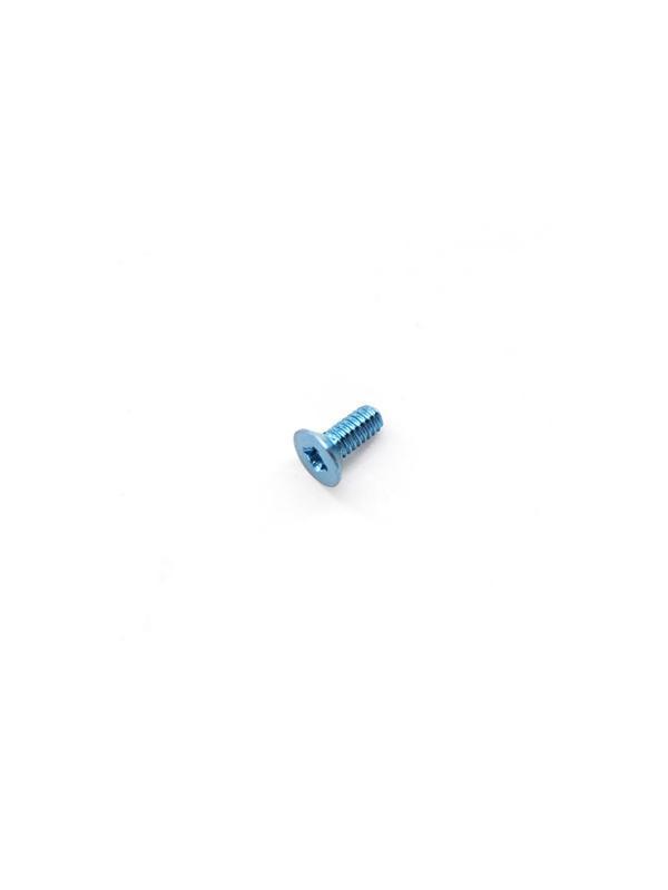 Avellanado DIN 965 M2x5 mm. de titanio gr. 5 (6Al4V). Anodizado azul - Avellanado DIN 965 M2x5 mm. de titanio gr. 5 (6Al4V). Anodizado azul