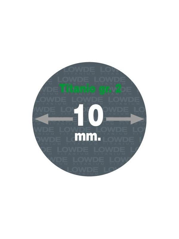 Varilla 2 metros de TITANIO gr. 2 ASTM B348 en diámetro 10 mm. - Varilla de 2 metros de TITANIO gr. 2 ASTM B348 de diámetro 10 mm. Tolerancia h7.