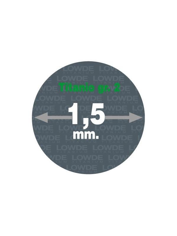 4 Varillas de 1 metro de longitud cada una AWS A5.16 de diámetro 1,5 mm. Titanio gr. 2 - 4 Varillas de 1 metro de longitud cada una AWS A5.16 de diámetro 1,5 mm. Titanio gr. 2