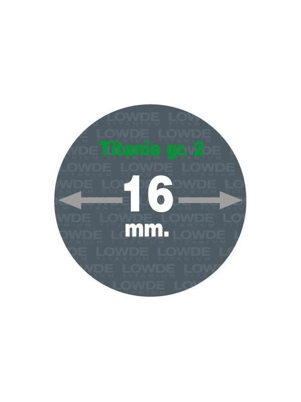 Varilla 1 metro de TITANIO gr. 2 ASTM B348 en diámetro 16 mm. - Varilla de 1 metro de TITANIO gr. 2 ASTM B348 de diámetro 16 mm.
