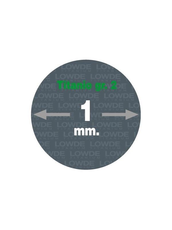 4 Varillas de 1 metro de longitud cada una AWS A5.16 de diámetro 1 mm. Titanio gr. 2 - 4 Varillas de 1 metro de longitud cada una AWS A5.16 de diámetro 1 mm. Titanio gr. 2