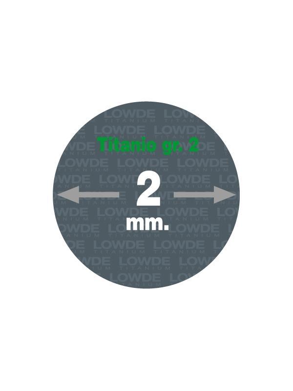 4 Varillas de 1 metro de longitud cada una AWS A5.16 de diámetro 2 mm. Titanio gr. 2 - 4 Varillas de 1 metro de longitud cada una AWS A5.16 de diámetro 2 mm. Titanio gr. 2