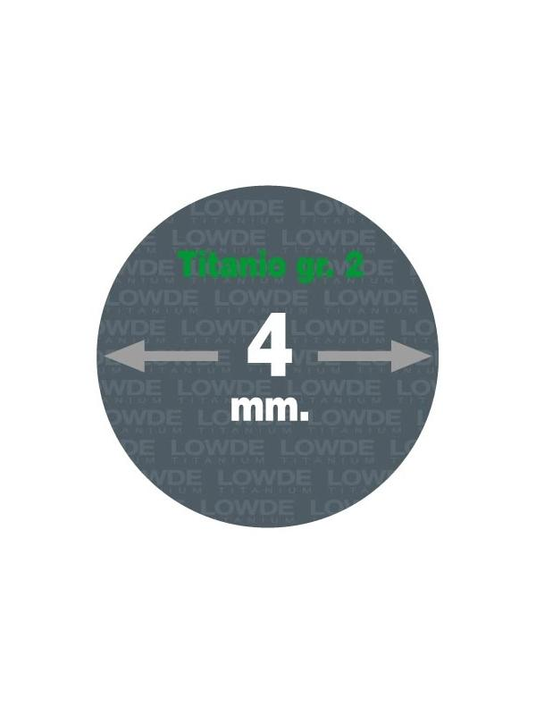 Varilla 1 metro de TITANIO gr. 2 ASTM B348 en diámetro 4 mm. - Varilla de 1 metro de TITANIO gr. 2 ASTM B348 de diámetro 4 mm.