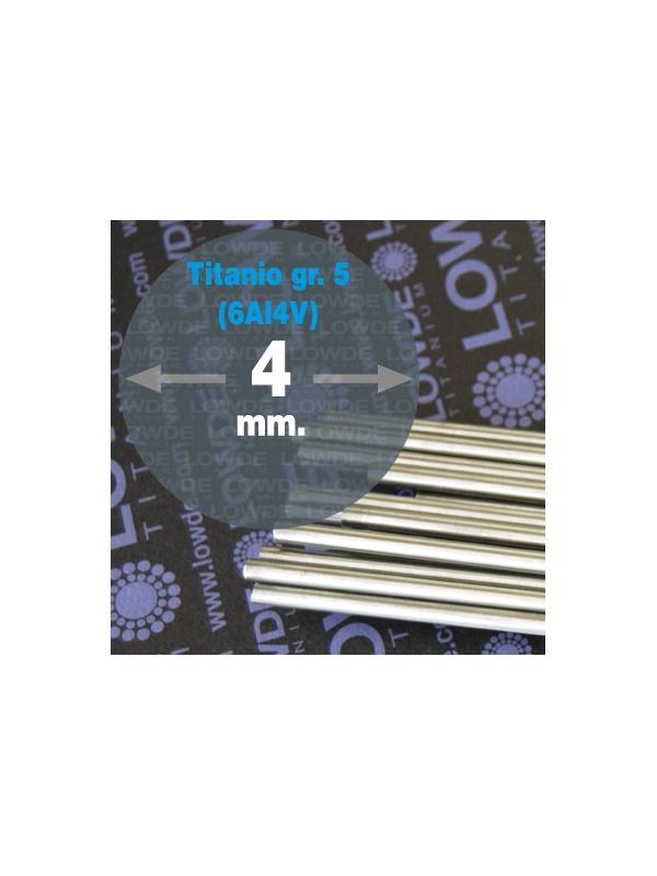Varilla Ø 4 mm. x 3 mts. Titanio gr. 5 (6Al4V) ELI F136 - Varilla Ø 4 mm. x 3 metros de TITANIO gr. 5 (6Al4V) ELI F136 ISO 5832-3