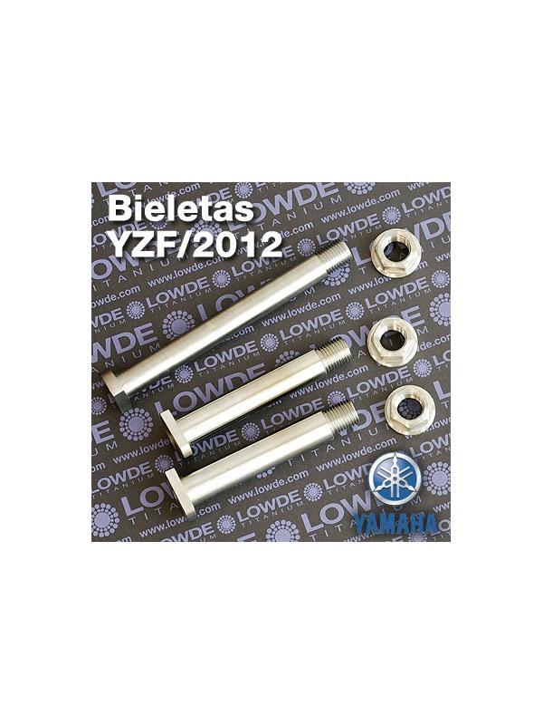 Juego ejes bieletas Yamaha YZ/F/2012-15 de gr. 5 (6Al4V) - Juego ejes bieletas Yamaha YZ/F/2015 de gr. 5 (6Al4V)