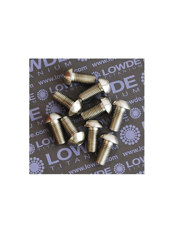 Boton M10x1,25x20 mm. de titanio gr. 5 (6Al4V). - Boton M10x1,25x20 mm. de titanio gr. 5 (6Al4V).